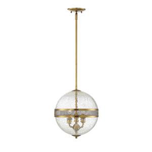 Stirling Warm Brass Three-Light Pendant