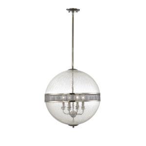 Stirling Polished Pewter Four-Light Pendant