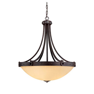Elba Oiled Copper Four-Light Pendant