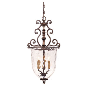 St. Laurence New Tortoise Shell with Silver Three-Light Small Pendant