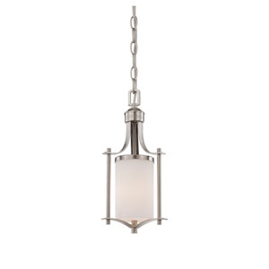 Colton Nickel and Pewter One-Light Mini Pendant