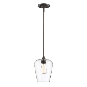Octave English Bronze One-Light Mini Pendant