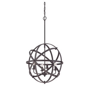 Dias English Bronze Four Light Pendant