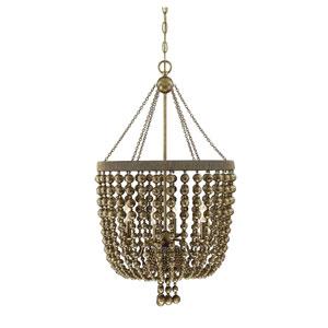 Cranford Vintage Brass Four-Light Pendant