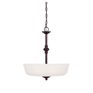 Melrose Bronze Three-Light Bowl Pendant