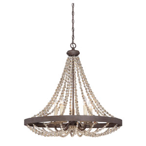 Mallory Bronze Five-Light Pendant