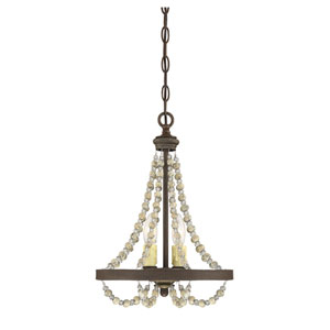 Mallory Fossil Stone Two-Light Chandelier