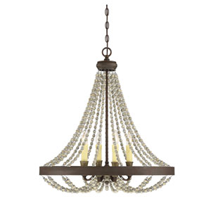 Mallory Fossil Stone Four-Light Chandelier