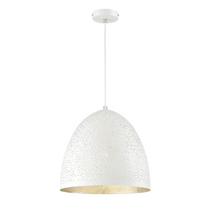Graham White with Silver Leaf One-Light Pendant