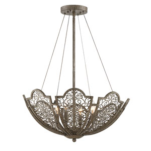 Hartl Aged Wood 24-Inch Four-Light Pendant