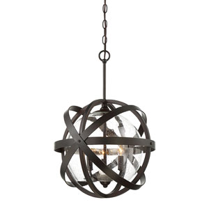 Basse English Bronze 17-Inch Three-Light Pendant