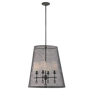 Lorai Oxidized Black 22-Inch Four-Light Foyer