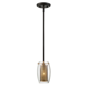 Dunba Warm Brass 5-Inch One-Light Mini Pendant