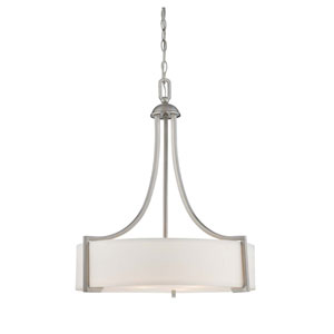 Terrell Satin Nickel Three-Light Pendant