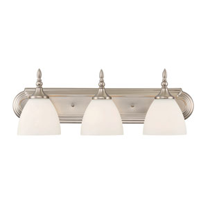 Herndon Satin Nickel Three-Light Bath Sconce