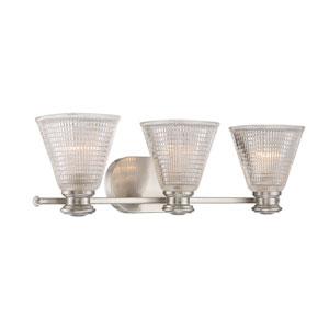 Thorpe Satin Nickel Three-Light Bath Sconce