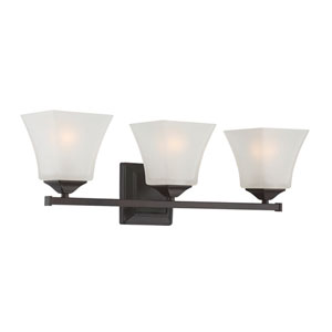 Castel English Bronze Three-Light Bath Sconce
