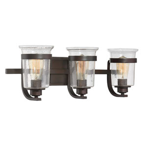 Goodwin English Bronze Three-Light Bath Sconce