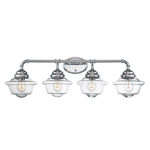 Fairfield Chrome 35-Inch Four-Light Bath Fixture