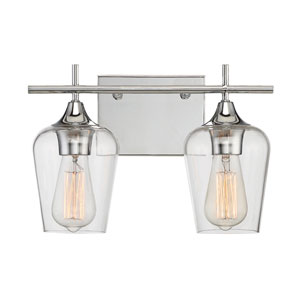 Octave Polished Chrome Two-Light Bath