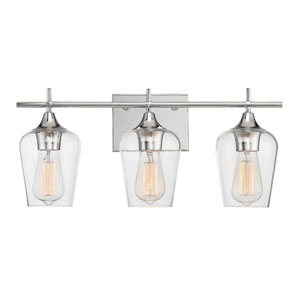 Octave Polished Chrome Three-Light Bath