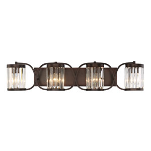 Nora Burnished Bronze Four-Light Bath