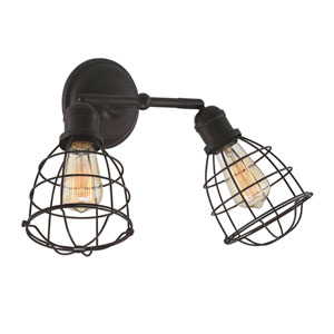 Scout English Bronze Two-Light Sconce