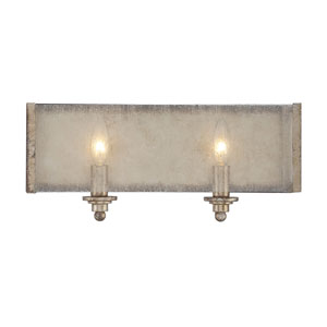 Chelsey Oxidized Silver 16-Inch Two-Light Bath Fixture
