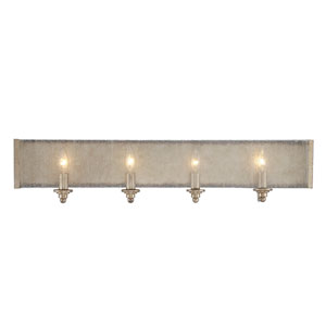 Chelsey Oxidized Silver 32-Inch Four-Light Bath Fixture