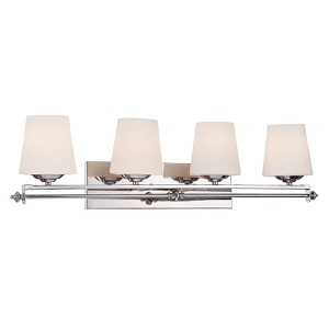 Aiden Polished Chrome Four-Light Bath Bar