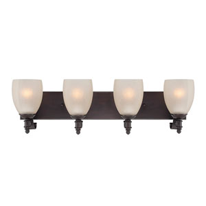 Duvall English Bronze 28-Inch Four-Light Bath Fixture