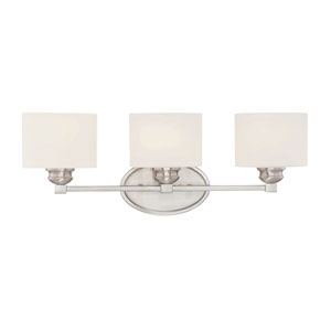 Kane Satin Nickel Three-Light Bath Sconce