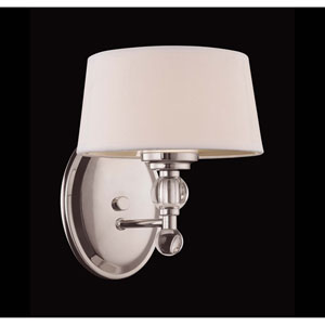 Murren Polished Nickel One-Light Wall Sconce