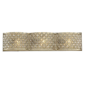 Regis Pyrite Three-Light Bath Bar