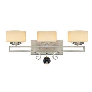 Rosendal Silver Sparkle Three-Light Bath Bar