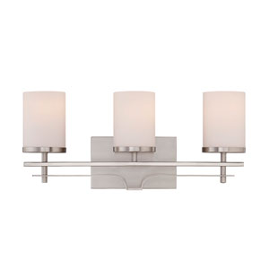 Colton Nickel and Pewter Three-Light Bath Bar