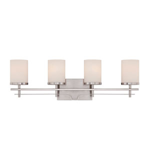 Colton Nickel and Pewter Four-Light Bath Bar
