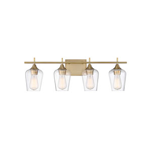 Octav Warm Brass 29-Inch Four-Light Bath Vanity