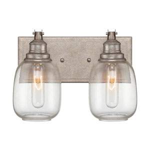 Orsay Industrial Steel Two Light Bath Lamp