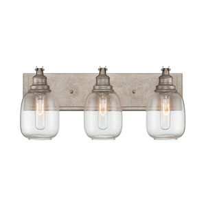 Orsay Industrial Steel Three Light Bath Lamp