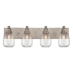 Orsay Industrial Steel Four Light Bath Lamp