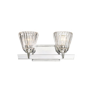 Dresd Chrome 16-Inch Two-Light Bath Vanity