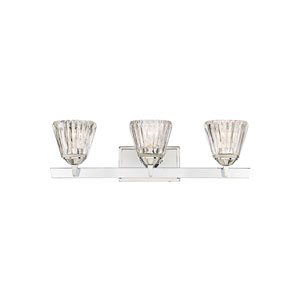 Dresd Chrome 25-Inch Three-Light Bath Vanity