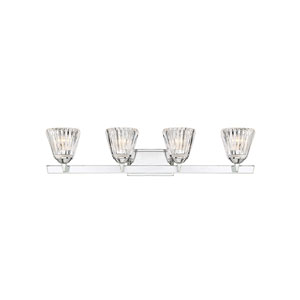 Dresd Chrome 34-Inch Four-Light Bath Vanity