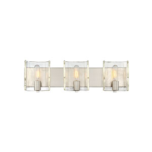 Hande Satin Nickel 25-Inch Three-Light Bath Vanity