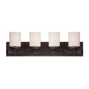 Alsace Wood Four-Light Bath Bar