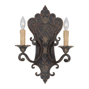 Southerby Florencian Bronze Two-Light Wall Sconce