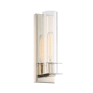 Hartford Polished Nickel One-Light Sconce