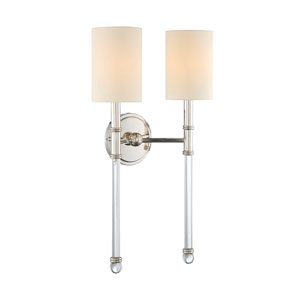 Fremont Polished Nickel Two-Light Sconce