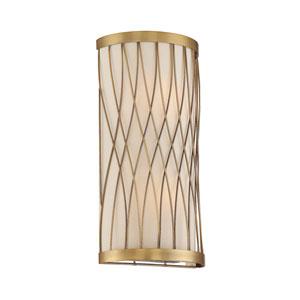 Spinnaker Warm Brass Two-Light Sconce